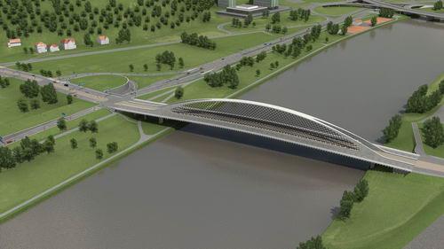 nový most přes Vltavu